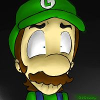 Fear in the face of Luigi by GirGrunny