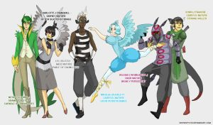 Pokemon Black - 1st Evolutions by lordmegi