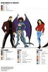 Gargoyles size and color chart - 2 by TheBarracuda