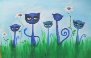 five cats, one dreamer by paulee1