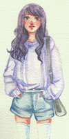 watercolour girl by marvi92