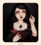 Little Queen of spades by Anatis-Ocellata