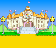 Peach's Castle outside MLSS remastered by MrShadicX
