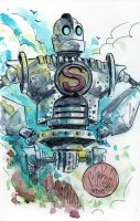 Watercolor: Iron Giant by mikemaihack