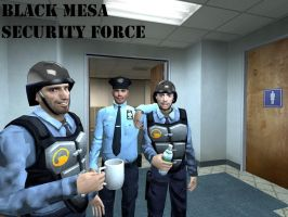 Black Mesa Security Poster by JackAxeWell