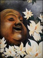 Buddha and Magnolias by Kyla-Nichole