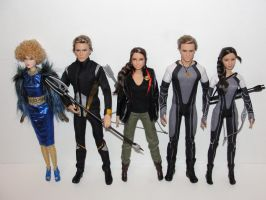 Barbie Hunger Games Dolls by bondagebondi