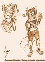 New Anthro OC by risky