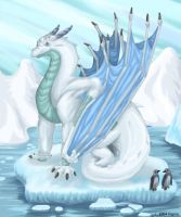 Dragon on Ice by hypnoticdragon