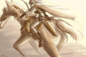 Canticlei - Ex-cavalry archer by bahamutneo
