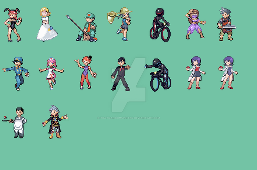 Custom Pokemon Trainer Sprites by ThatRandomSpriter