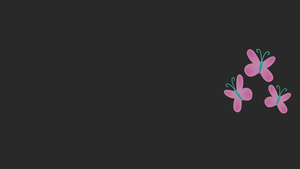 Scanline Fluttershy Cutie Mark Wallpaper by gandodepth