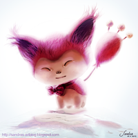 Skitty Fanart #300 by Sadako-xD