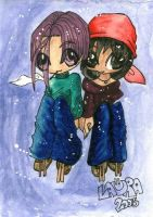 Chibi Pan and Trunks by lauretta18
