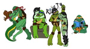 TMNT couples... by Lily-pily