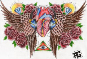 anatomical heart by Drewgovan
