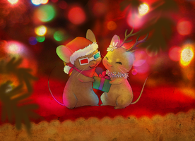 Holiday Mousies by Celebi-Yoshi