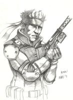 SOLIDSNAKE by Mightyfox-Rixou