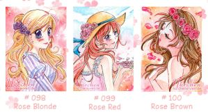 Roses (ACEO set cards) by oONorchenOo