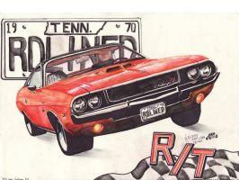 1970 Dodge Challenger RT by FastLaneIllustration