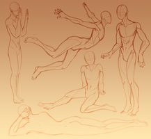 Anatomy Study Human Men by Aviator33