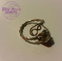Handmade Iron Pyrite Wire Wrapped Ring by WireMoonJewelry