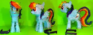 Rainbow Dash Paper Plushie -- Preview 2 by C-quel