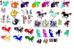 HUGE FREE ADOPTS SHEET by thisisausername9876