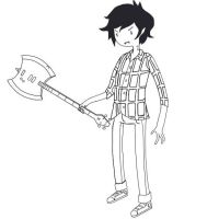 Marshall Lee with Axe- Bass by Cowboydan16