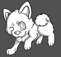 Free Shiba Inu Lineart by CollectionOfWhiskers