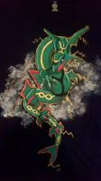 Rayquaza Custom T-Shirt by Brokenfeather-san