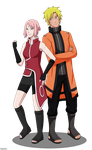 NaruSaku - All grown-up by Kaschra