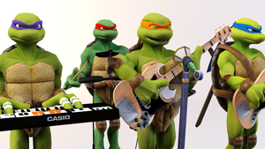 3DS Max - TMNT Band by SilverMoonCrystal