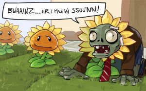 Plants vs Zombies - Hipster Zombie by MichellePow