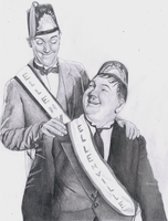 Laurel and Hardy by Richard-M-Williams
