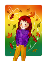 Fall Picture Finished by MissChibiChild