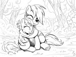 Hug (lineart) by KP-ShadowSquirrel