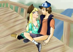 Dipper and Pacifica by FabricioVilela