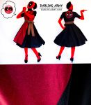Patterned Deadpool Cosplay Wrap Dress by DarlingArmy