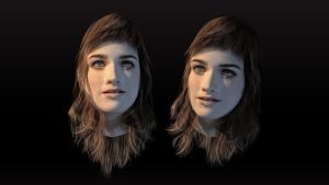 3D Head girl by dspcreativity