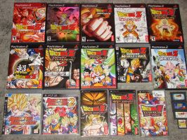 All my DBZ games by ImageFighter13