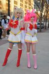 MomoCon 2011 - Sailor Moon and Sailor Chibi Moon by WashuuOtaku