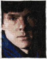 Sherlock (Benedict Cumberbatch) - Cross Stitch by lailarshid