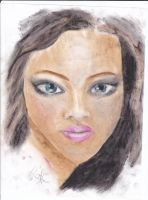 girl oil pastels by MakeTheWorldYours