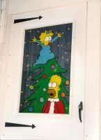 Simpsons X-mas Window by thepapierboy