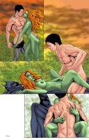 Batman Poison Ivy Comic Commish Page 3 Colors by ESO2001