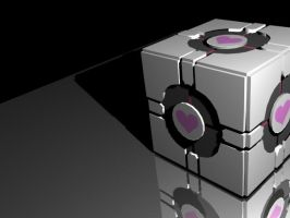 Weighted Companion Cube by wingedLizz