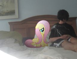 Me and Fluttershy sad by MetalGriffen69