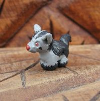 Mini Mightyena Sculpture by LeiliaK