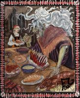 Baba Yaga Feeds by spastic-frog